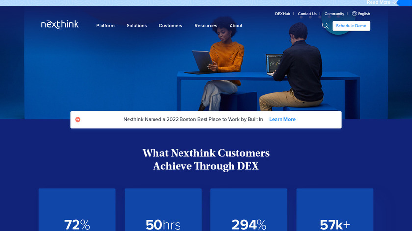 Nexthink Landing Page