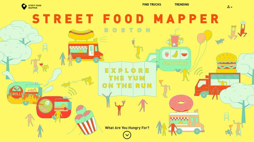 Street Food Mapper Landing Page