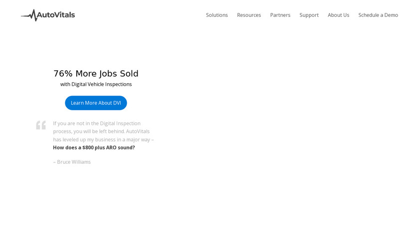 AutoVitals Landing Page