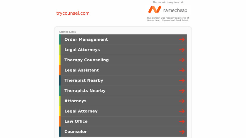 Counsel Landing Page