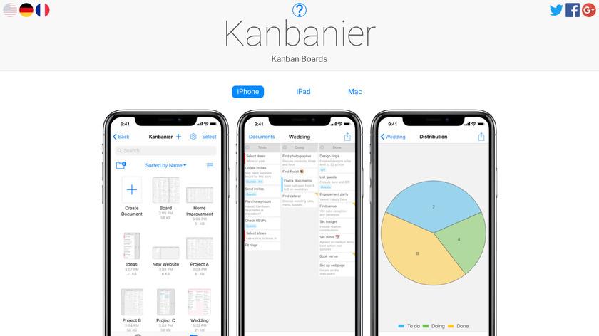 Kanbanier Landing Page