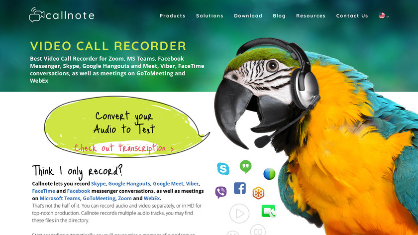 Callnote Audio Video Call Recorder Landing Page