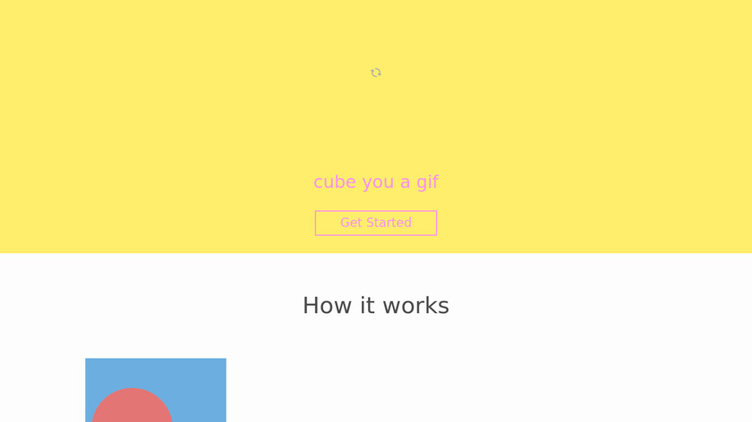 Gif Cube Landing Page