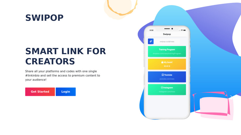Swipop Landing Page