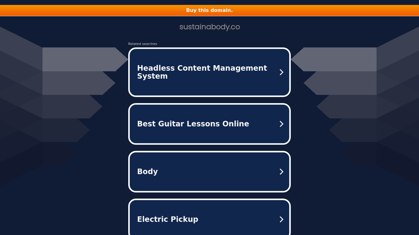 Sustainabody Landing Page