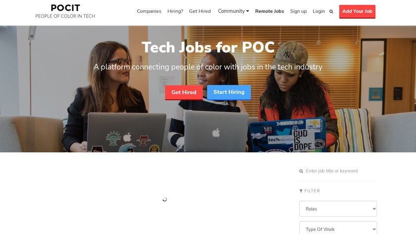 POCIT Jobs Landing Page
