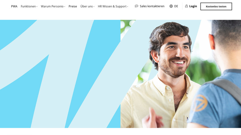 Personio HR Software Landing Page