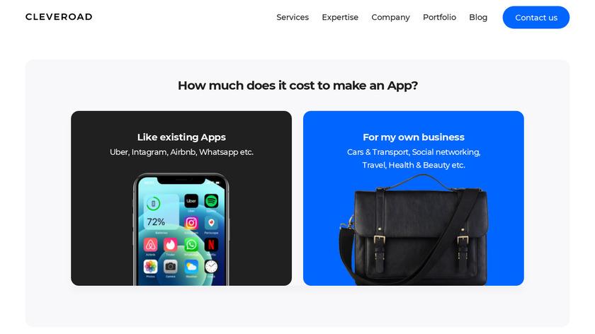 App Cost Calculator Landing Page