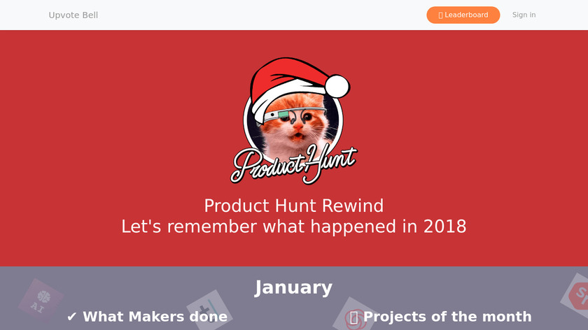 Product Hunt Rewind Landing Page
