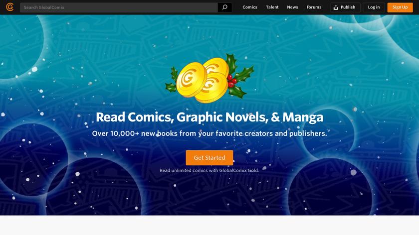 GlobalComix Landing Page