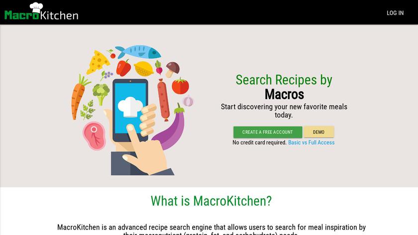 MacroRecipes Landing Page