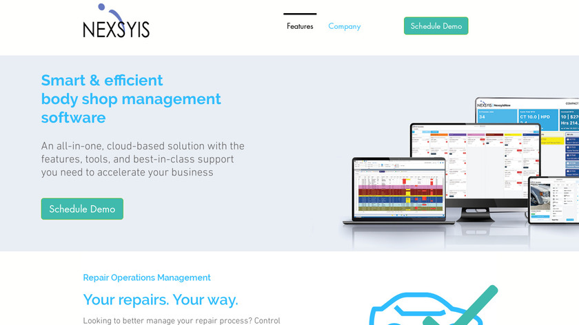 Nexsyis Collision Landing Page