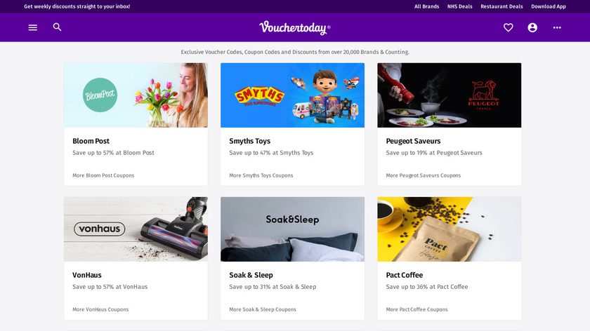 Vouchertoday Landing Page