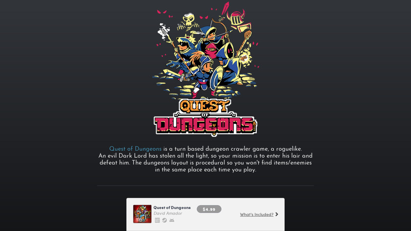 Quest of Dungeons Landing Page