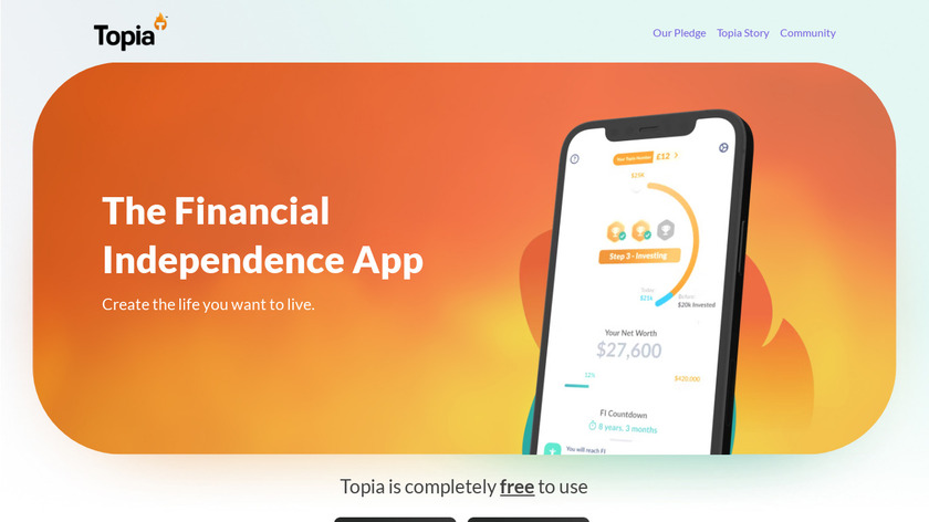Topia Landing Page