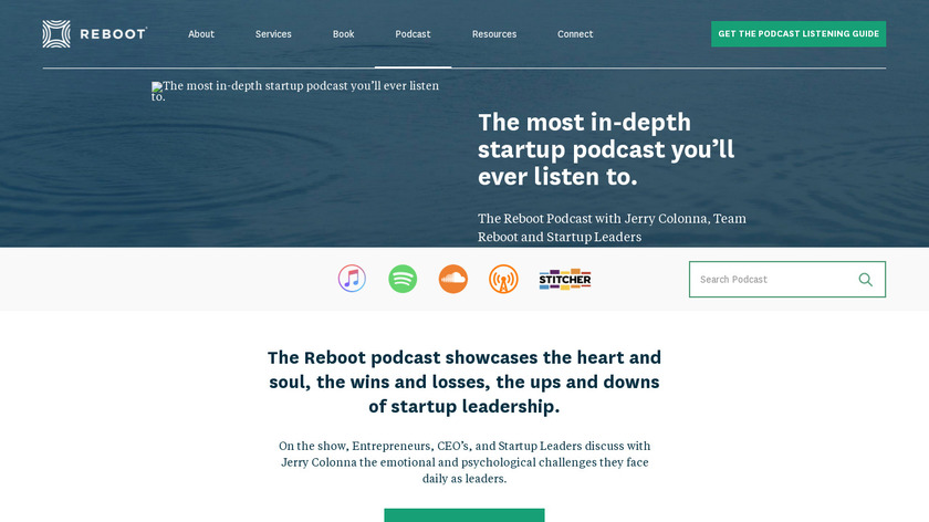Reboot podcast Landing Page