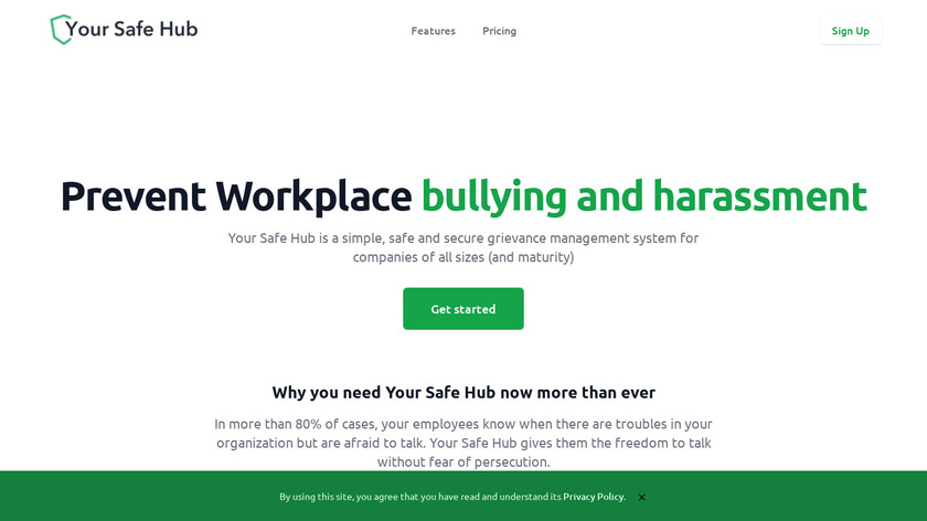 Your Safety Hub Landing Page