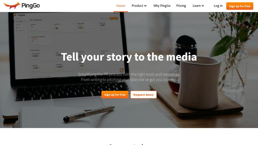 PingGo Landing Page