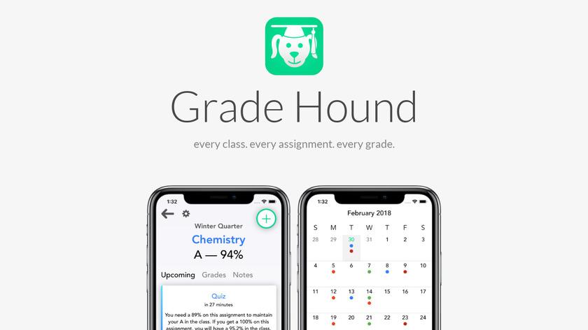 Grade Hound Landing Page