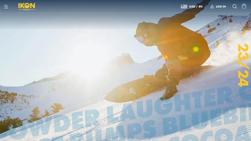 IKON Pass Landing Page