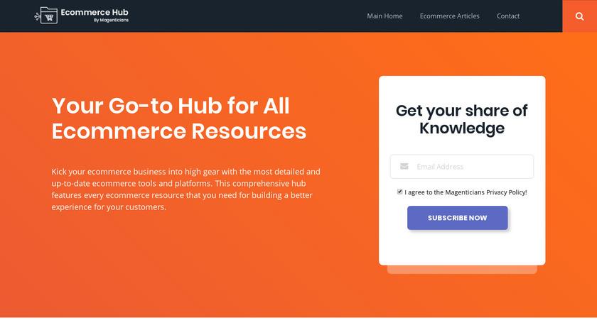 magenticians.com Ecommerce Hub Landing Page