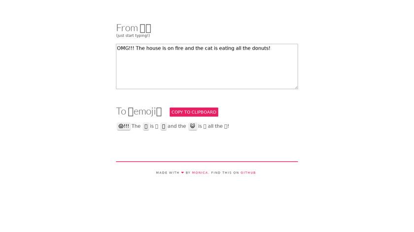 Emoji Translate Landing Page