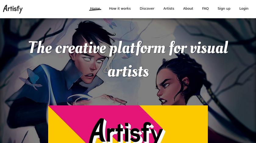 Artisfy Landing Page