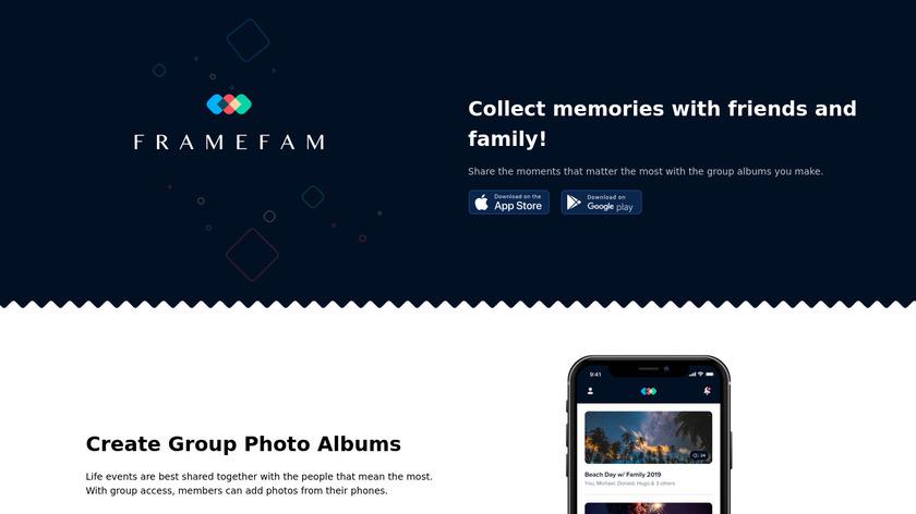 FrameFam Landing Page