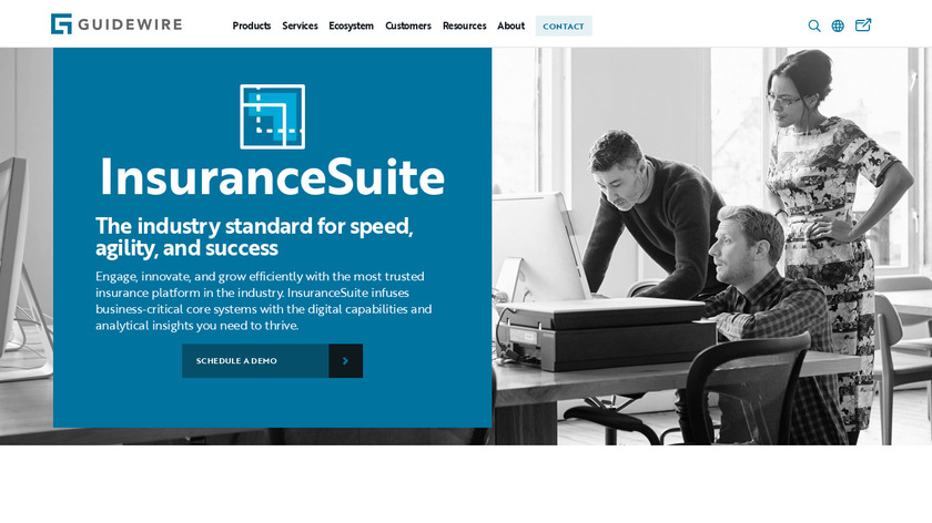 Guidewire InsuranceSuite Landing Page