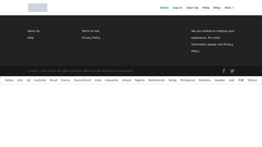 iWadi Landing Page