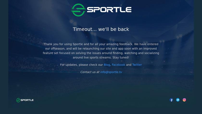Sportle Landing Page