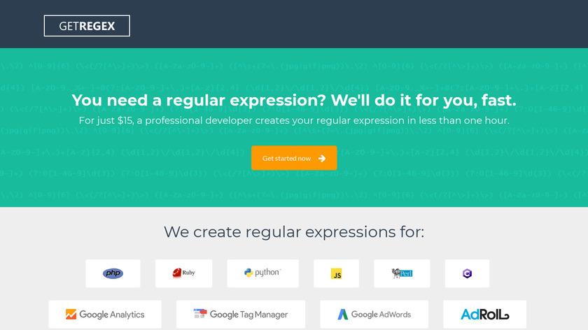 Get Regex Landing Page