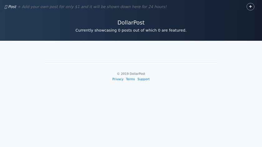 DollarPost Landing Page