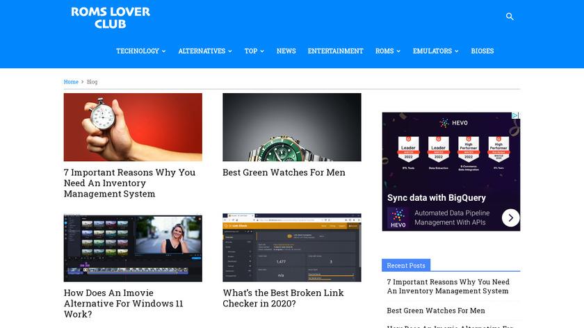 RomsLover Landing Page