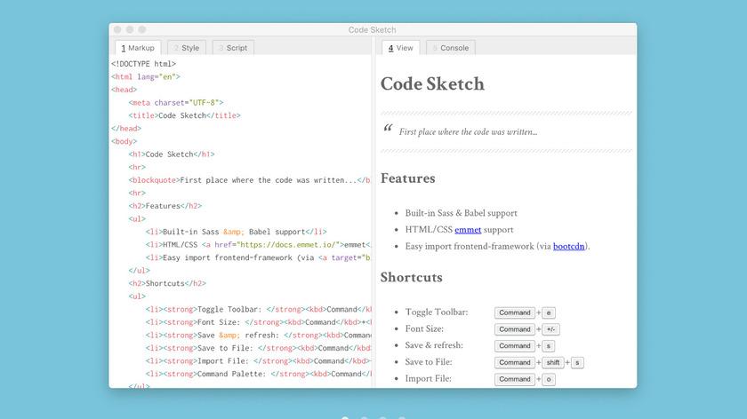 Code Sketch Landing Page