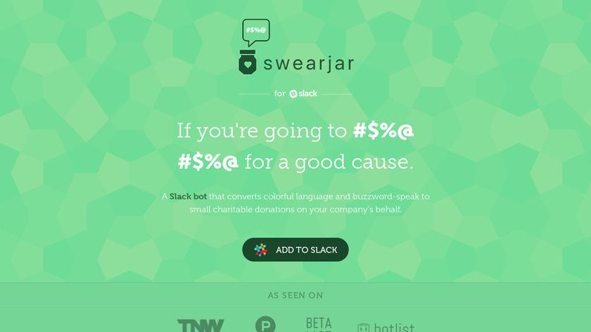SwearJar Landing Page
