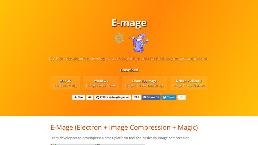 E-mage Landing Page
