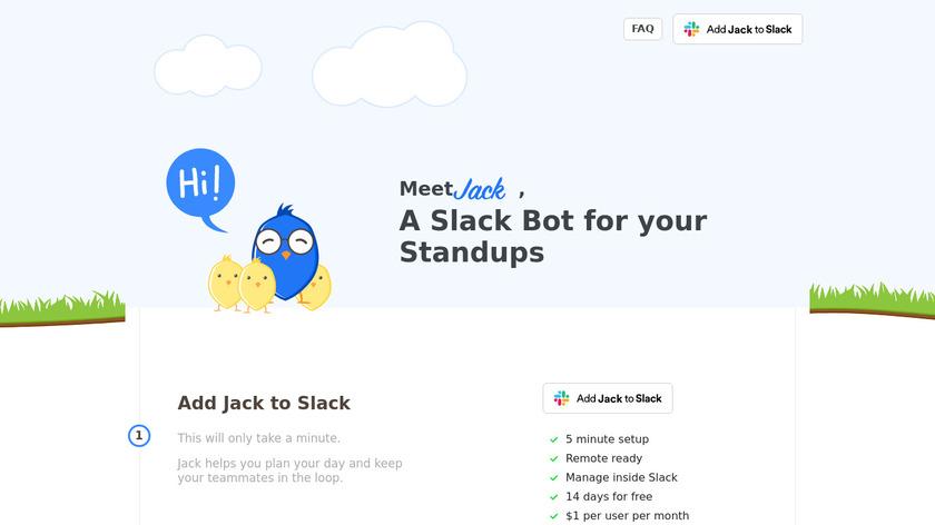 Standup Jack Landing Page
