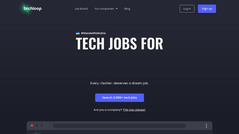 Techloop.io Landing Page