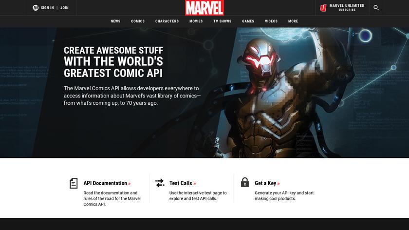 Marvel (Comics) API Landing Page