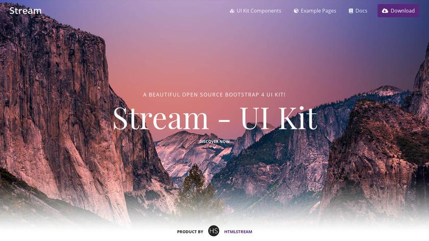 Stream UI Kit Landing Page