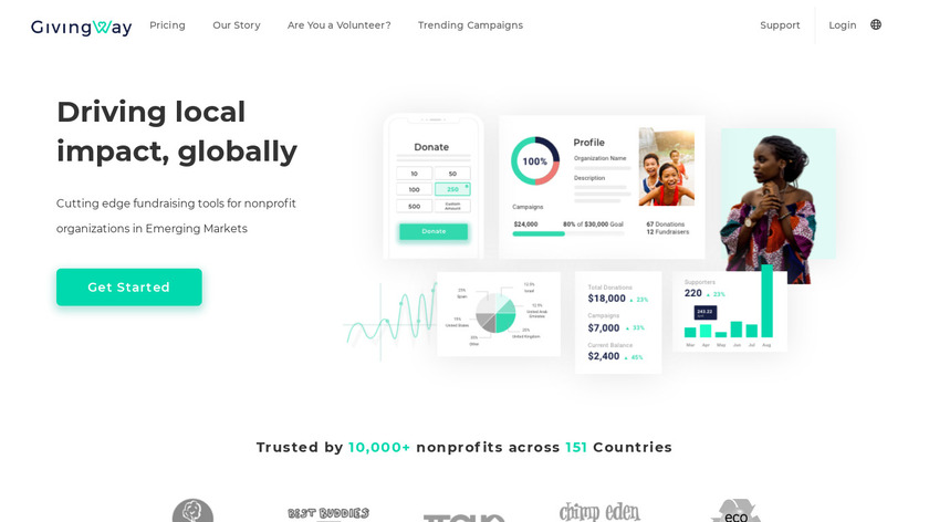 GivingWay Landing Page
