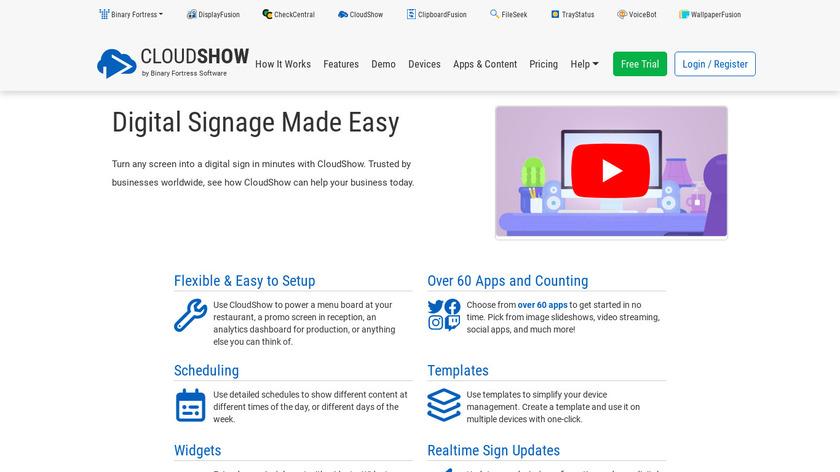 CloudShow Landing Page