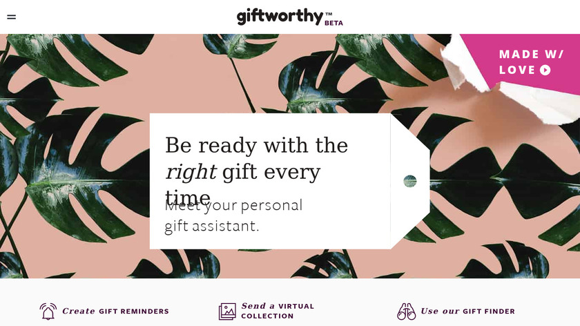 Giftworthy Landing Page