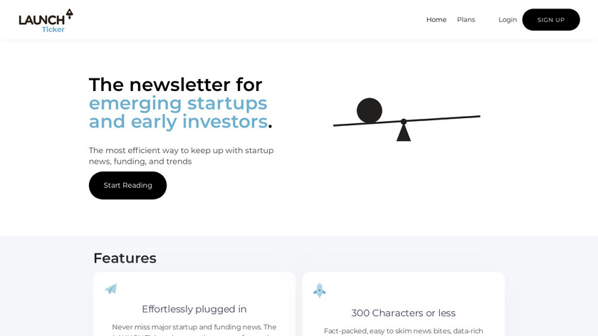 LAUNCH Ticker Landing Page