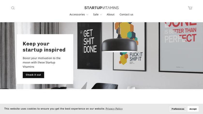 StartupVitamins Landing Page