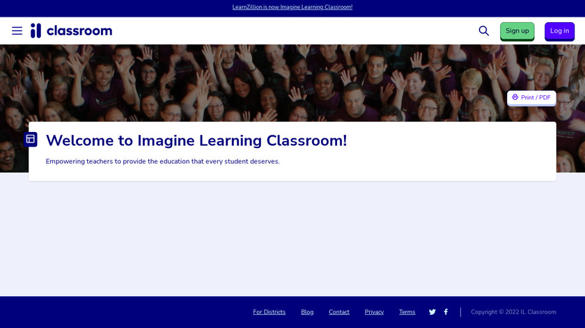LearnZillion Landing Page