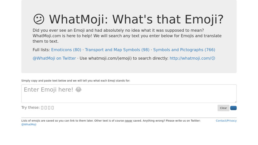 WhatMoji Landing Page