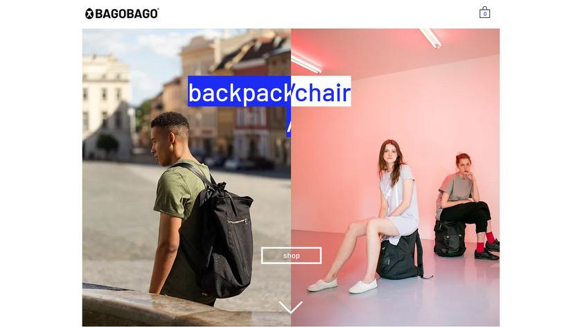 BAGOBAGO Backpack Chair Landing Page