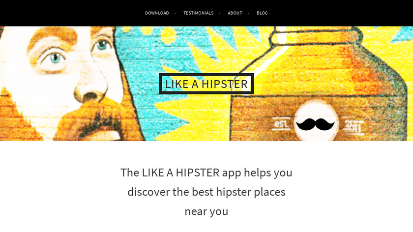 LIKE A HIPSTER Landing Page